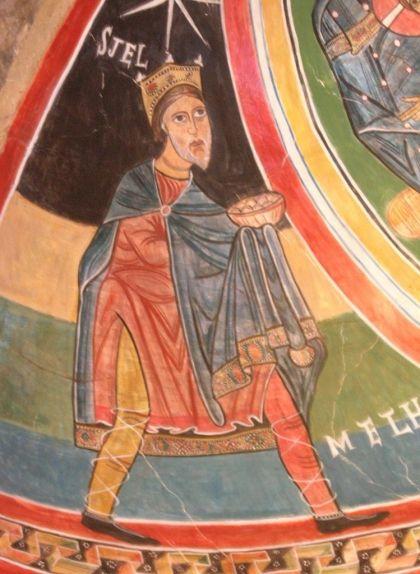 El rei Melcior als frescos de Santa Maria de Taüll