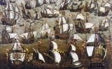 La batalla entre l'Armada espanyola i la flota anglesa