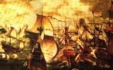 La 'Invencible' navegant davant de Cornualla