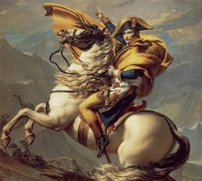 'Napoleó creuant els Alps', de Jacques-Louis David
