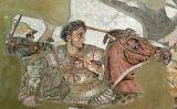 Alexandre el Gran i Bucèfal, en un mosaic de la Casa del Faune de Pompeia