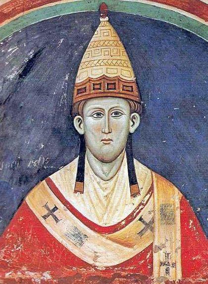 Fresc del papa Innocenci III a l'abadia territorial de Subiaco (Itàlia)