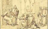 Estudi preparatori d'Els sicilians en l'acte de presentació del guant de Conradí a Pere III d'Aragó, de Pau Milà
