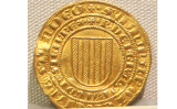 Moneda d'or de Pere el Gran i la seva dona Constança de Sicilia