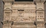 Arc inferior de Castell Nou, a Nàpols, amb un relleu que recorda el triomf d'Alfons el Magnànim