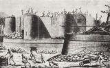 Els homes del constructor Palloy, demolint la Bastilla l'endemà el 15 de juliol de 1789
