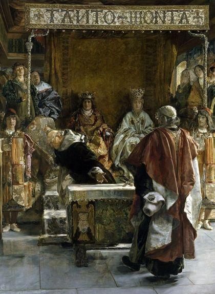 Quadre 'Expulsió dels jueus d'Espanya' (1492), que representa Tomás de Torquemada instant els Reis Catòlics a expulsar els jueus dels seus regnes