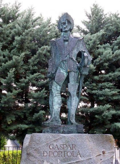 Estàtua de Gaspar de Portolà a Arties
