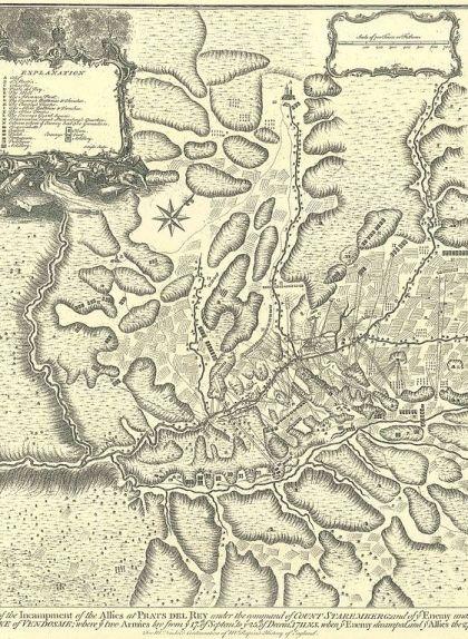 Mapa de la batalla dels Prats de Rei