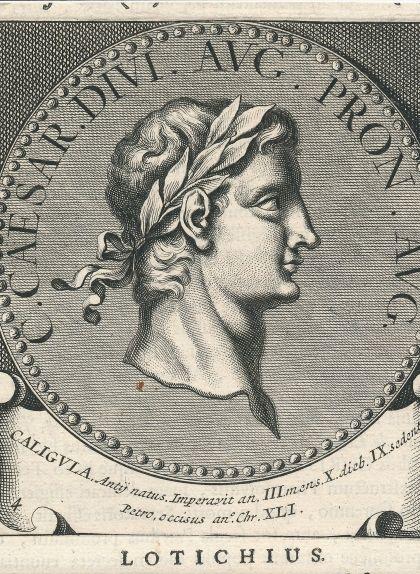 Gravat amb un medalló de Calígula
