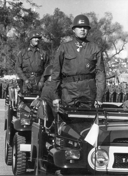 Pinochet durant la 'Parada Militar' del 19 de setembre de 1971