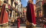 Els gegants de Solsona durant la Festa Major