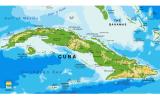 Mapa de Cuba amb Guantánamo a la part sudest
