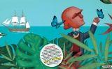 Il·lustració del Petit SÀPIENS d'octubre, dedicat a Darwin i a la seva teoria de l'evolució