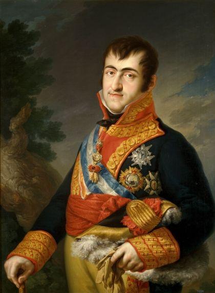 Retrat de Ferran VII fet pel pintor Vicente López Portaña