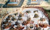Quadre de Niccolò Granello que representa el desembarcament dels terços espanyols en la batalla d'isla Terceira, a les Açores