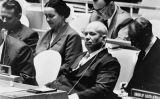 Nikita Khrusxov en una reunió de l'Assemblea General de l'ONU, el 22 de setembre del 1960