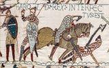 Escena del tapís de Bayeux en què es veu la mort del rei Harold d'Anglaterra a mans de Guillem de Normandia