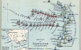 La innovadora tàctica de l'almirall Nelson consistia en dividir la flota francoespanyola en tres parts