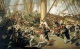 Nelson rep un tret a la coberta del 'Victory'