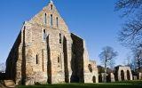Restes de Battle Abbey, el monestir benedictí que es va construir en penitència pels caiguts en la batalla de Hastings