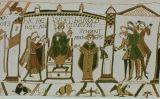 Escena del tapís de Bayeux en què es veu la coronació de Harold Godwinson