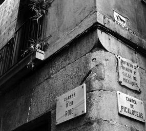 Carrers d'en Roig i de Picalquers, al Raval de Barcelona