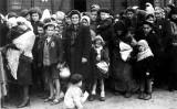 Un grup de jueus hongaresos a l'arribada al camp d'Auschwitz l'estiu del 1944