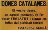 Cartell encoratjant les dones a votar en el plebiscit del 1931