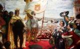 Coronació de Joan IV, rei de Portugal, quan va aconseguir la independència el 1668