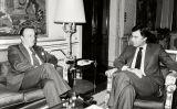 Reunió del president Felipe González amb Manuel Fraga