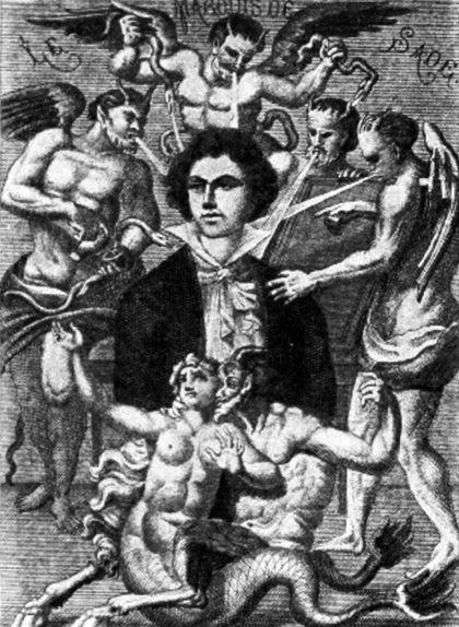 Retrat imaginari del marquès de Sade de H. Biberstein (1912)