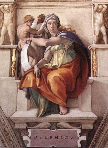 Sibiŀla dèlfica, fresc de Miquel Àngel a la capella Sixtina