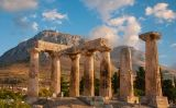 Les restes del temple d'Apol·lo, a Delfos