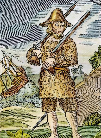 Gravat d'una edició primerenca de Robinson Crusoe