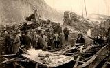 Tasques de desenrunament després de l'accident ferroviari de Saint-Michel-de-Maurienne del 12 de desembre de 1917