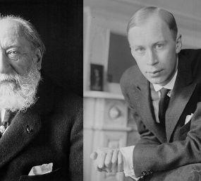 Camille Saint-Säens (esquerra) i Sergei Prokófiev