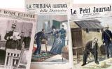 Portades d'algunes publicacions que es van fer ressò del cas Dreyfus