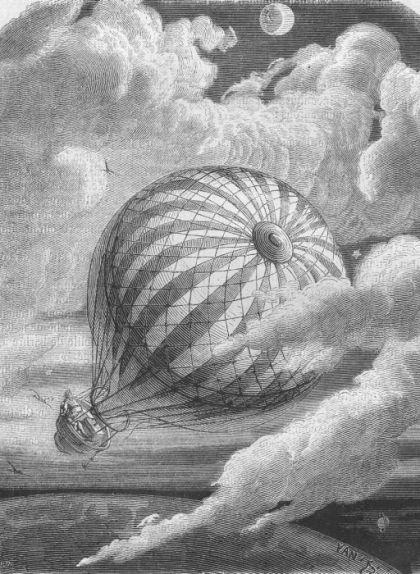 Il·lustració de l'obra d'Edgar Allan Poe, 'La incomparable aventura d'un tal Hans Pfaall'