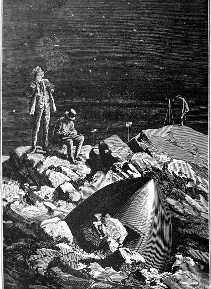 Il·lustració de la novel·la de Jules Verne 'De la Terra a la Lluna'