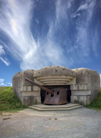 Bateria alemanya a Longues-sur-Mer, a Normandia