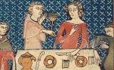 Degustació medieval, publicada al llibre 'Livre d'heures de la reine Yolande' (segle XV)