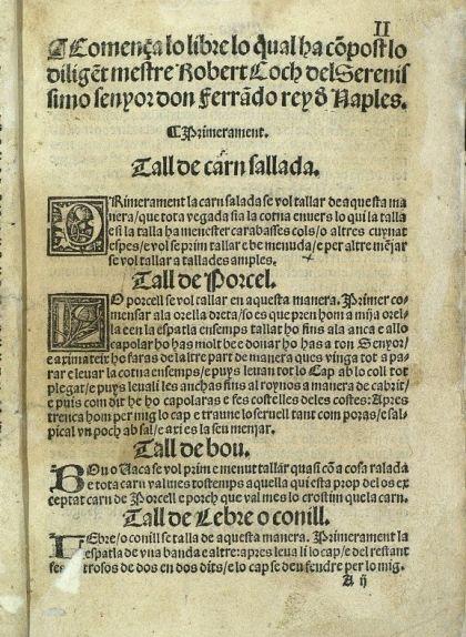 Pàgina del 'Llibre del coch'