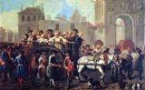 'Transport de prostitutes a l'hospici de la Salpêtrière de París', d'Étienne Jeaurat (1757)