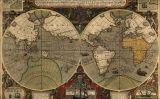 Mapamundi que registra la volta al món de Francis Drake i la del seu compatriota Thomas Cavendish uns anys més tard