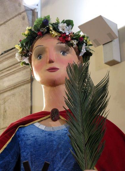 La gegantona Laia de Barcelona, al palau de la Virreina
