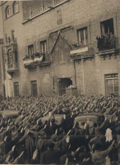 Celebració després de l'ocupació franquista de Barcelona, el 1939