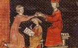 Miniatura medieval d'un acte d'homenatge