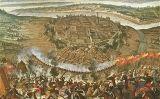 Llenç del setge del setge otomà a la capital austríaca que es conserva al Museu de Viena