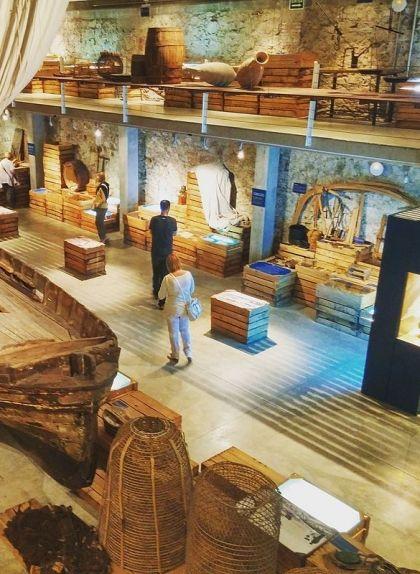 Una de les sales del Museu de la Pesca de Palamós